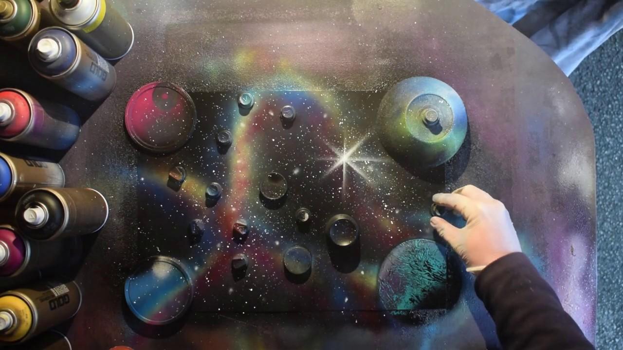 Spray Paint Art galaxy tutorial for beginners by Jon ...