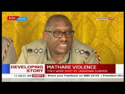 Nairobi County Police Commander-Japheth Koome insists situation in Nairobi is calm
