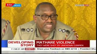 Nairobi County Police Commander-Japheth Koome insists situation in Nairobi is calm