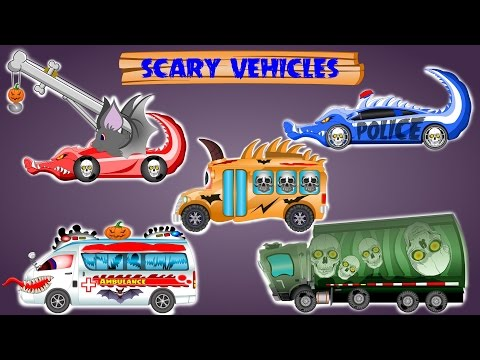 Scary Street Vehicle | Halloween Special | Street Vehicles For Kids