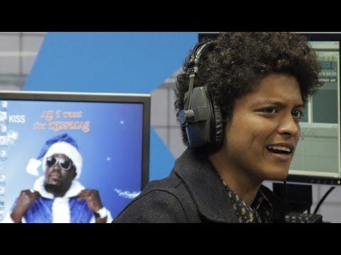 Bruno Mars sings Eye Of The Tiger acapella at Kiss FM