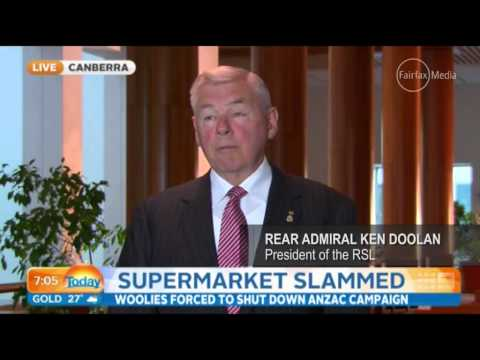 Backlash over Woolworths Anzac advertising     01:26