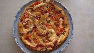 Рецепт салата из кукурузы и крабовых палочек / Вкусная пицца и маринованные помидоры