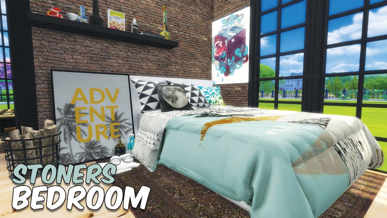 Sims 4 || SPEED BUILD: High School Cliques   The Stoneru0027s Bedroom (SPAM  WEEK DAY 7)