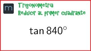 Trigonometría, Reducción al primer cuadrante (Secundaria)