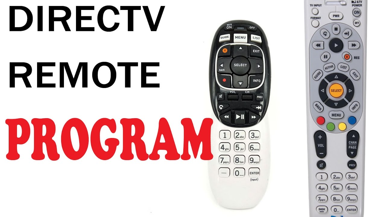 How To Program Directv Remote Rc73 65 Youtube
