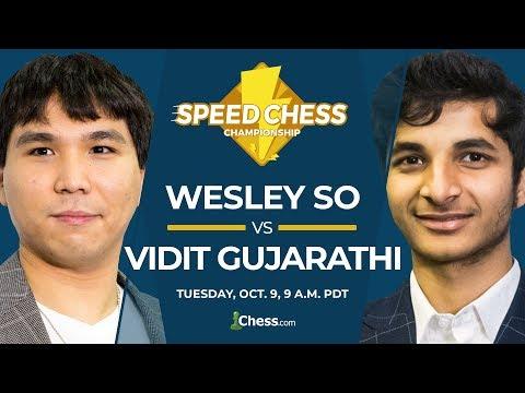 2018 Speed Chess Championship: So vs Vidit
