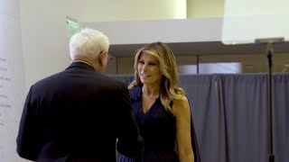 First Lady Melania Trump Attends a Dedication Ceremony at the Kennedy Center