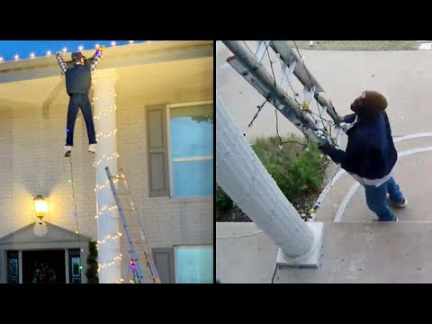 DJ Frosty - Good Samaritan Calls 911 to Rescue 'Man' Dangling From Roof