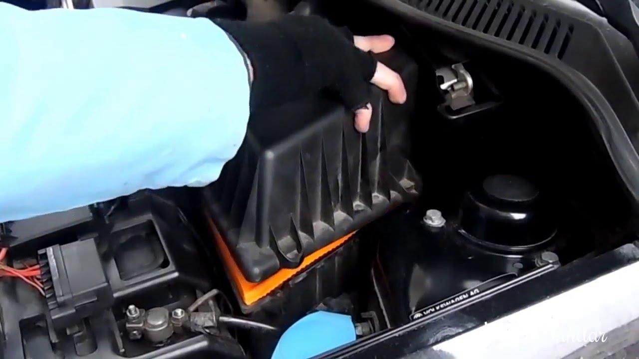 hava filtresi nasıl değiştirilir | vw polo 9n3 - youtube