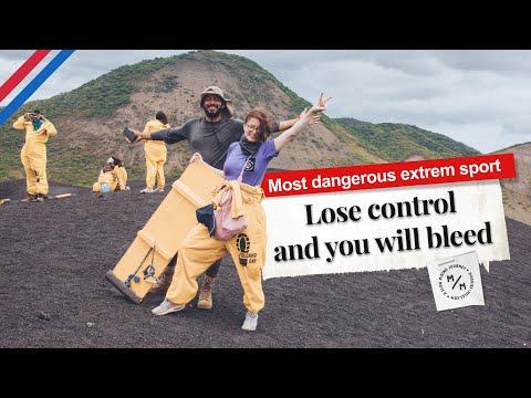 Verlier die Kontrolle und du wirst bluten | Cerro Negro Volcano Boarding