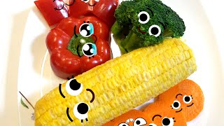 Pretend Play with Vegetable Dolls for Kids