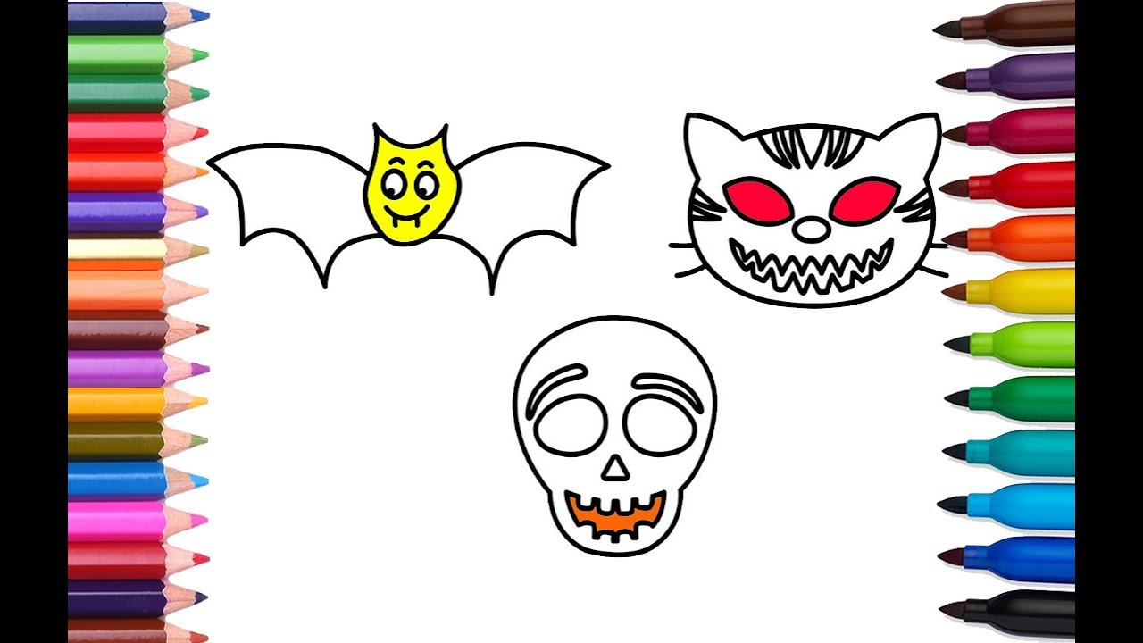 halloween mask batman coloring pages how to draw and color