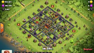 How to 3 star miner TH10 with battle blimp siege machine!