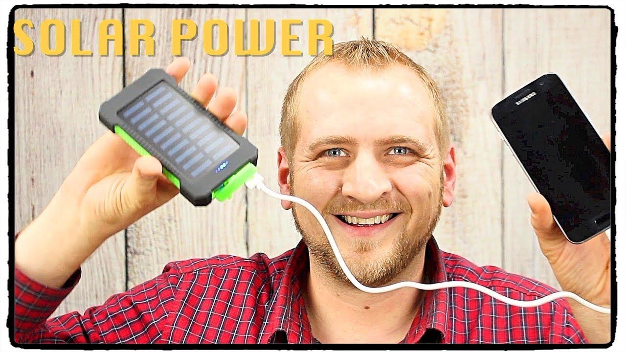 Solar Powerbank 10000mah Deutsch Test Review Sinpro Youtube