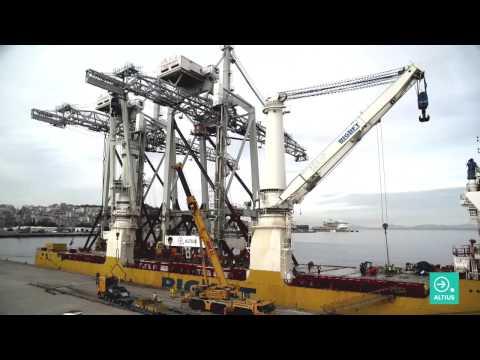 Altius transports two gantry cranes from Rotterdam to Vigo (TERMAVI)