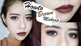 Howto มันก็จะน้ำตาลๆหน่อยนะ Brown Makeup