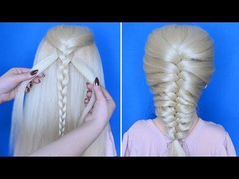 Коса без плетения || Самый легкий способ заплести косу колосок || Красивые прически пошагово
