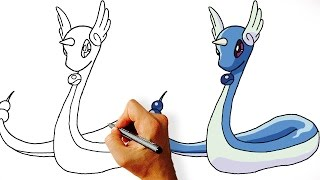 How to Draw Dragonair from Pokemon