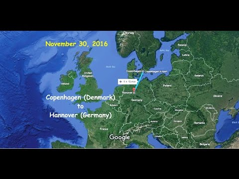 Scandinavia to Germany by Scandinavian Airlines Flight 669 (Copenhagen to Hannover)