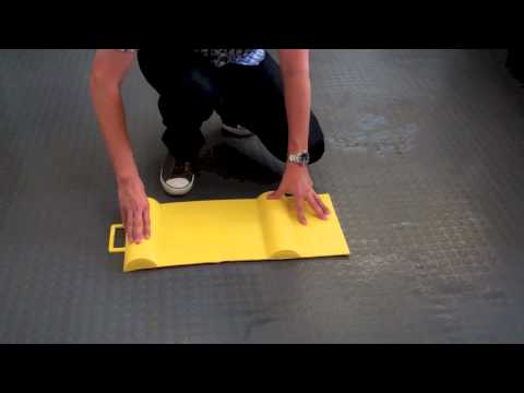 Park Smart Yellow Safety Garage Parking Mat Guide At