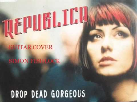 REPUBLICA DROP DEAD GORGEOUS BACKING TRACK KARAOKE (GUITAR COVER)