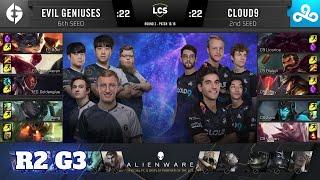 Cloud 9 vs Evil Geniuses - Game 3   Round 2 Playoffs S10 LCS Summer 2020   C9 vs EG G3