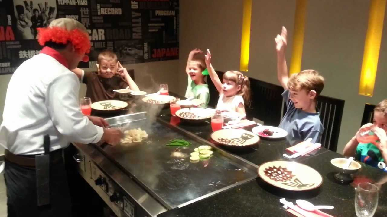 Kids in Benihana Bratislava - YouTube