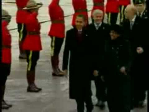 Obama arrives at Ottawa International Airport Canada Feb 19 2009