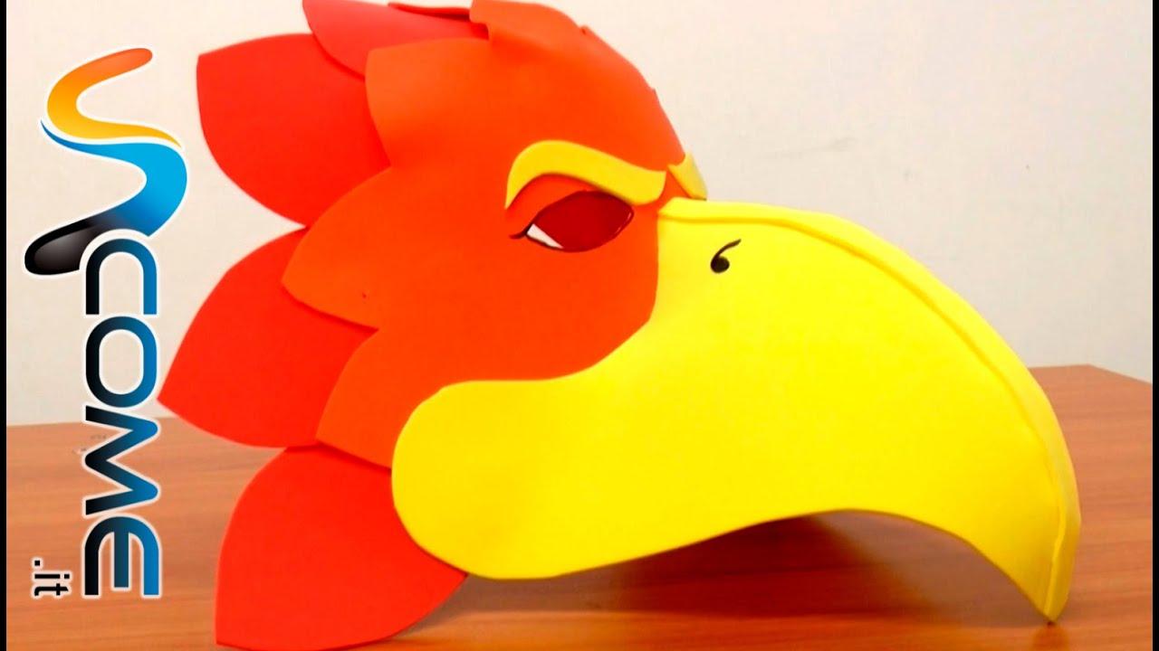 Come creare una maschera da uccello youtube - Casetta di cartone da colorare ...