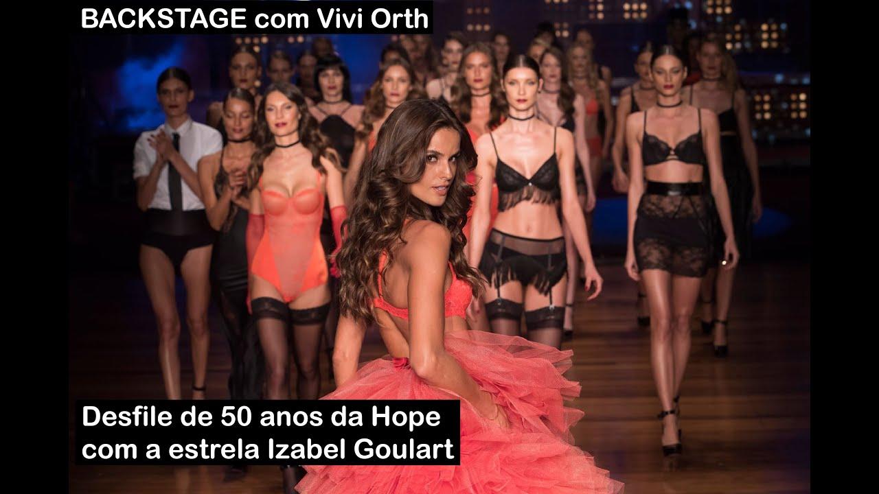 Vivi Orth no Backstage do desfile de 50 anos da Hope ModelsTV