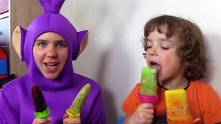 Makar makes fruit Ice Cream