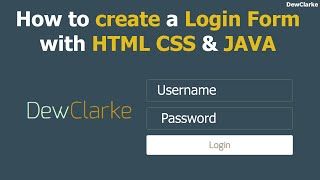 how to create a login page with html css and javascript