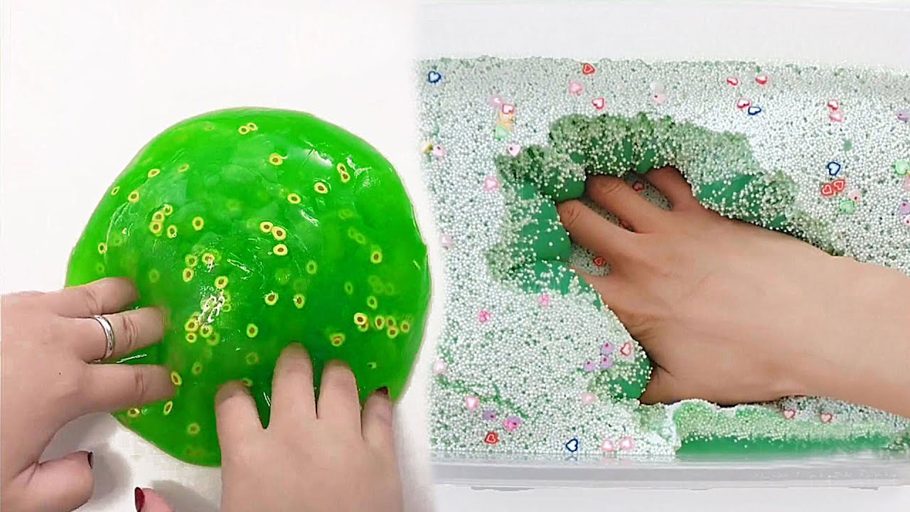 Satisfying crunchy and clear slime videos | Relaxing Slime ASMR #134