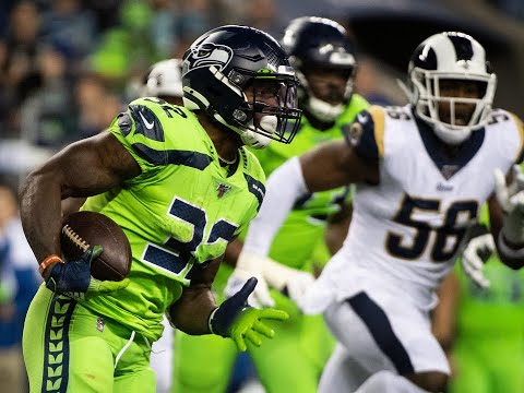 Chris Carson Gets A Smile Out Of Describing His Juggling Act For Seahawks' Winning TD Over Rams