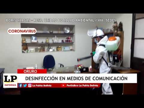 Desinfección en medios de comunicación...