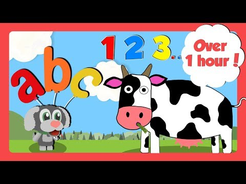 Learning Videos for Toddlers | Counting, ABC & Learn Colours | Learn English For Kids