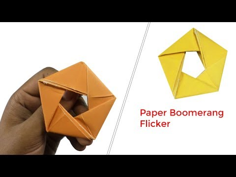 Origami For Kids - How to Make a Origami Boomerang - Paper Boomerang Flicker - Paper Toys