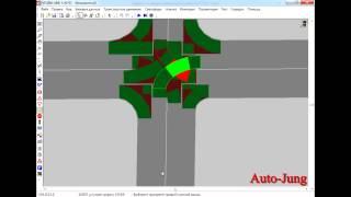 Видео Урок №2.  Построение Х образного пересечения с учетом направления главной дороги