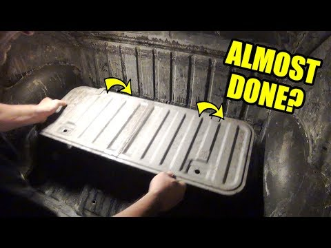 Hatch Almost Done! - ROTTEN OLD 1956 Chop Top Oval VW Beetle - 70