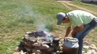 mongolian barbecue khorkhog.wmv