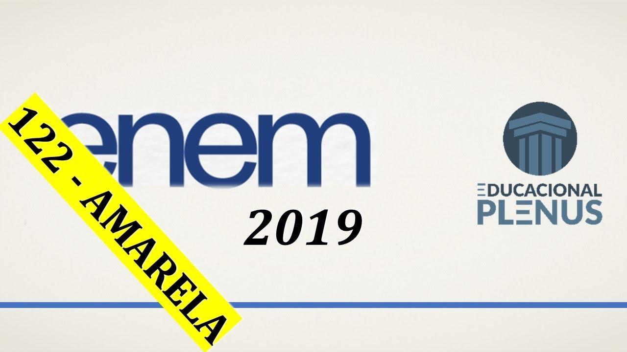 ENEM 2019 - Questão 122 (Amarela) - Ciências da Natureza
