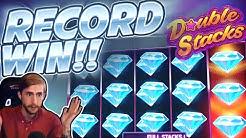 RECORD WIN!!!! Double Stacks Netent BIG WIN - INSANE WIN on Casino Game