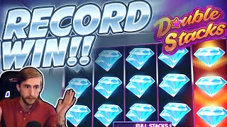 RECORD WIN!!!! Double Stacks Netent BIG WIN - INSANE WIN on Casino Game