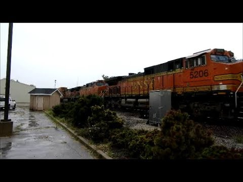 BNSF 5206 a C44-9W leads a intermodal train east in Coal City IL