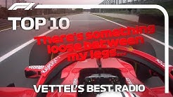 Sebastian Vettel's Top 10 Radio Moments in F1