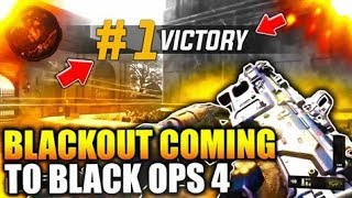 *BLACKOUT SAVES COD?!* NEW BLACKOUT BATTLE ROYALE IN BO4! - (Quad vicious medal gameplay!)
