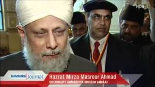 Empfang von Hazrat Mirza Masroor Ahmad (atba) im Hamburger Rathaus - NDR Berichterstattung