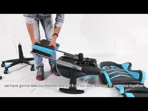 gaming chair with footrest installation video