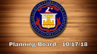 Bridgewater, MA Planning Board - Oct. 17th, 2018